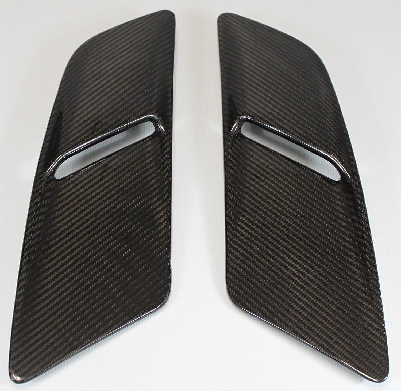 Carbon Fiber Racing Fmfo24cffg Mustang Fuse Box Cover Fiberglass Ford Gt 2015 2017 Hood Vents Pair Automotive