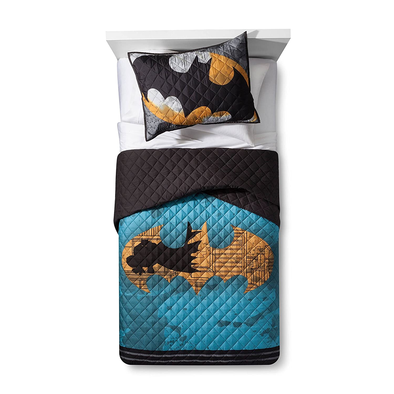 Batman Quilt Twin/Full and Sham Franco