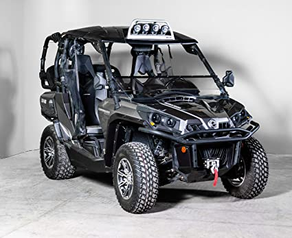 Can-Am Commander Full-Tilt Windshield-Best of both worlds  Half when you  want and full when you need  Made in America