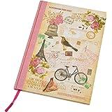 """A4 couverture rigide carnet de notes - """"New Vintage"""" Conception - 80 Feuilles = 160 Pages - Ligné - Taille - 297mm x 210mm"""