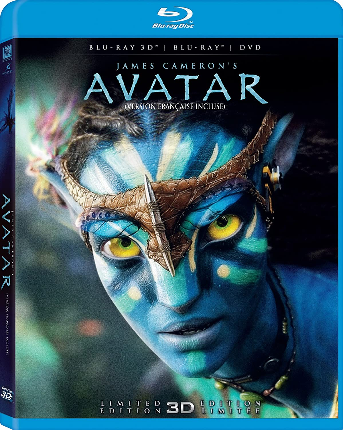 avatar limited d edition blu ray d blu ray dvd bilingual  avatar limited 3d edition blu ray 3d blu ray dvd bilingual ca sam worthington dvd