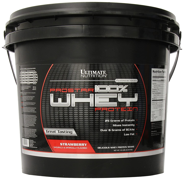Ultimate Nutrition Prostar 100% Whey Protein, Strawberry, 10 Pound