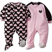 Gerber Baby Girls' 2-Pack Blanket Sleeper, Love 24 Months