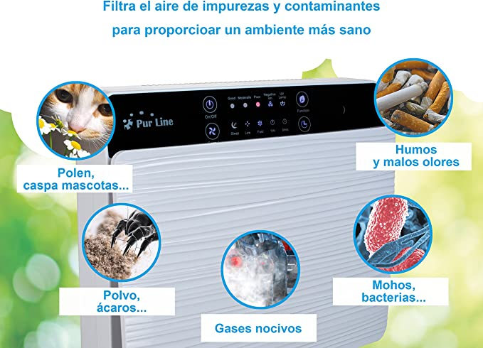 Purline FRESH AIR 30 Purificador de Aire filtro HEPA, filtro de ...