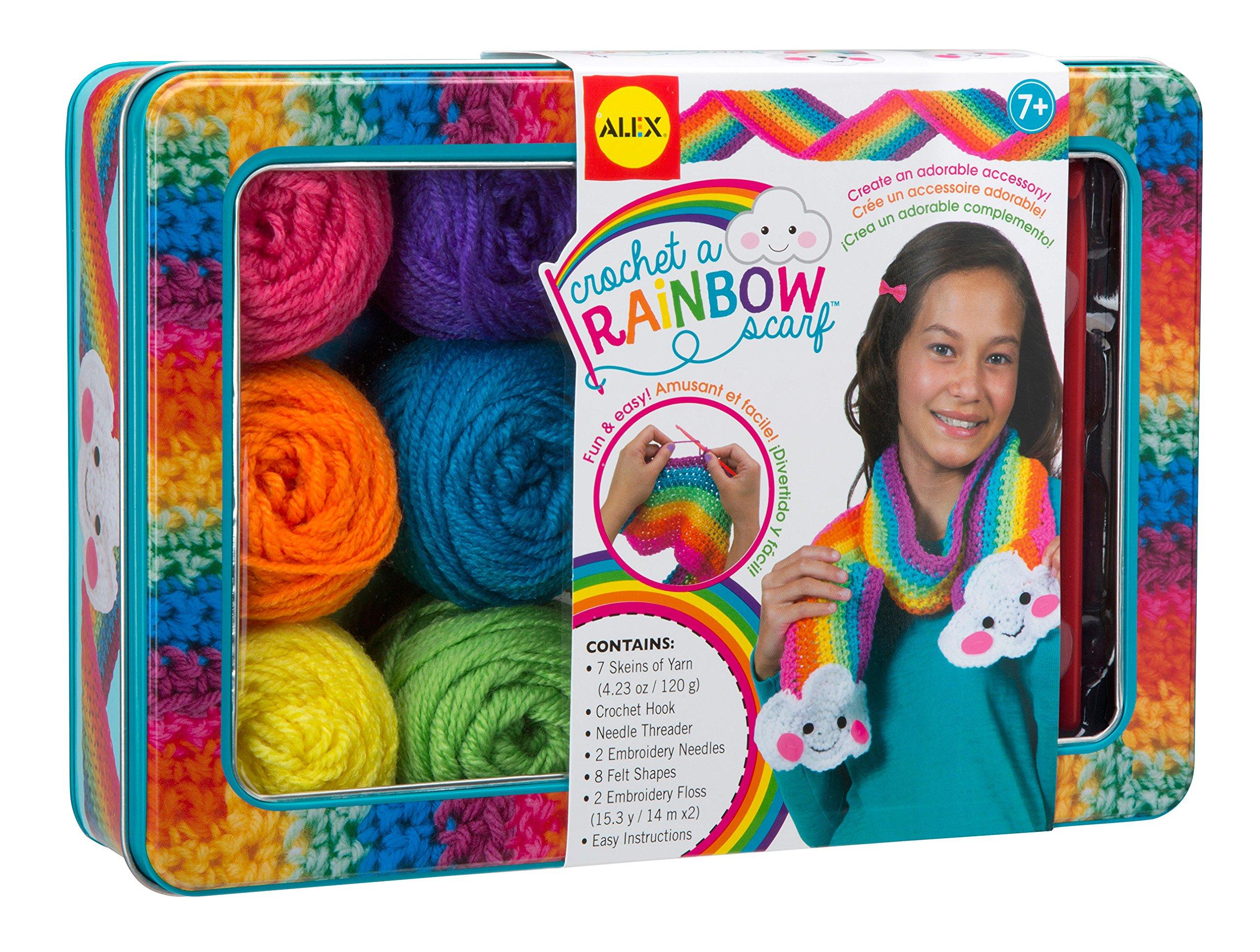 ALEX Toys Craft Crochet A Rainbow Scarf
