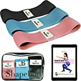 Shape Bod Booty Bands – Set of 3 Glute Bands for Gym or Home Workout – Non-Slip Fabric Resistance Bands for Women…