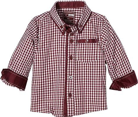 NAME IT - Camisa a Cuadros de Manga Larga para bebé, Talla 36 ...
