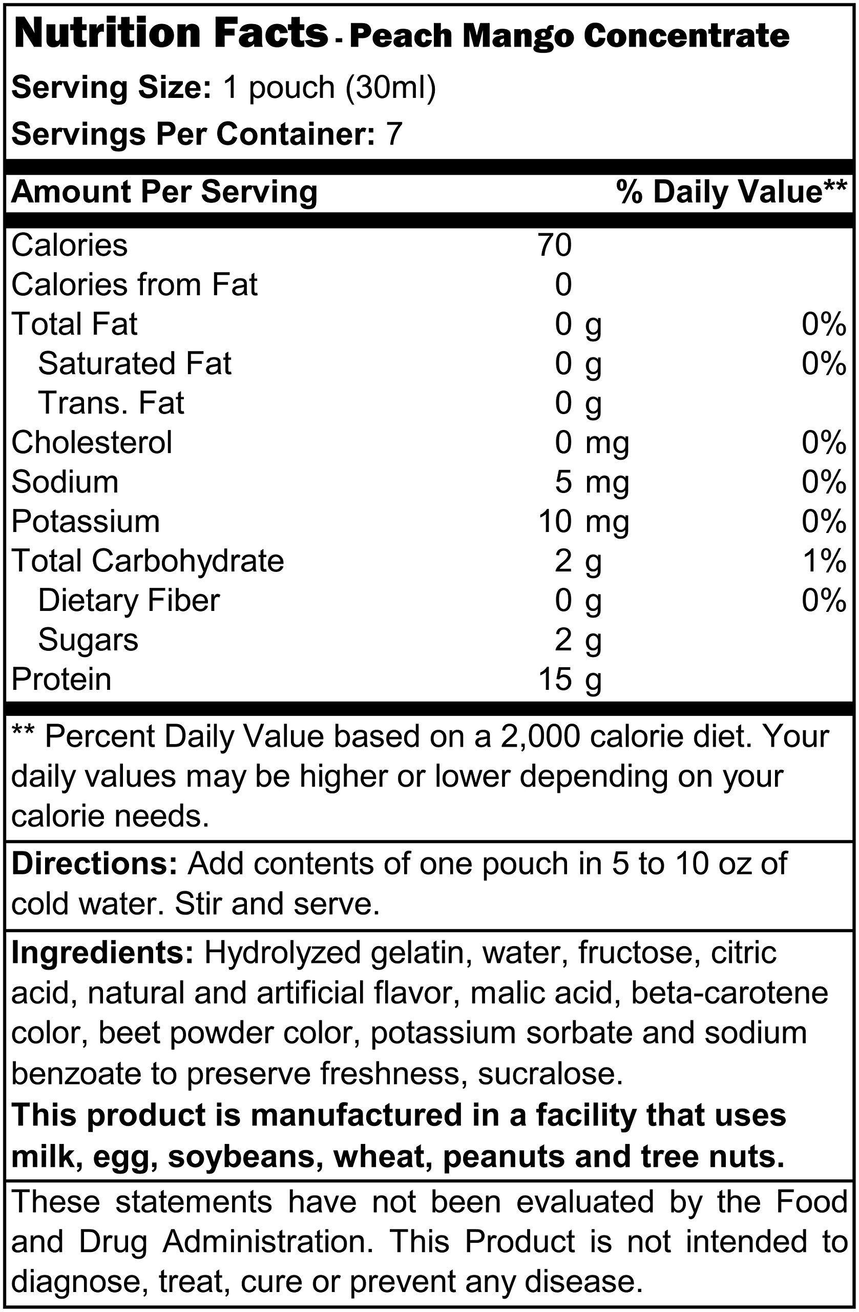 Proti Diet Concentrated Drink Mix (7 servings) (Peach-Mango, 7 Servings)