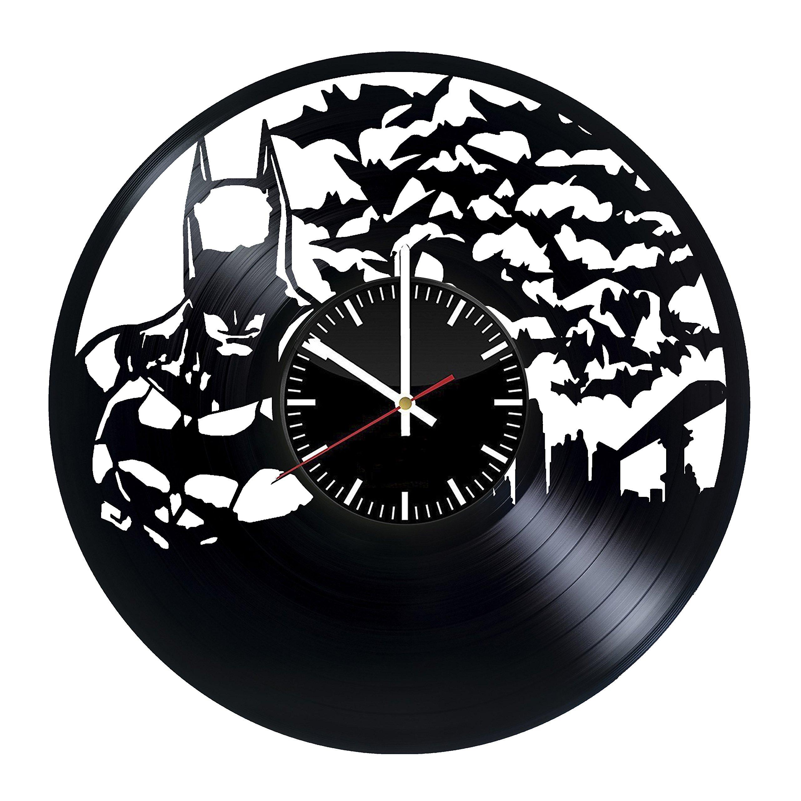 Welcome Everyday Arts Batman Movie Vinyl Record Wall Clock - Get unique living room wall decor - Gift ideas for men and women – DC Comics Unique Modern Art