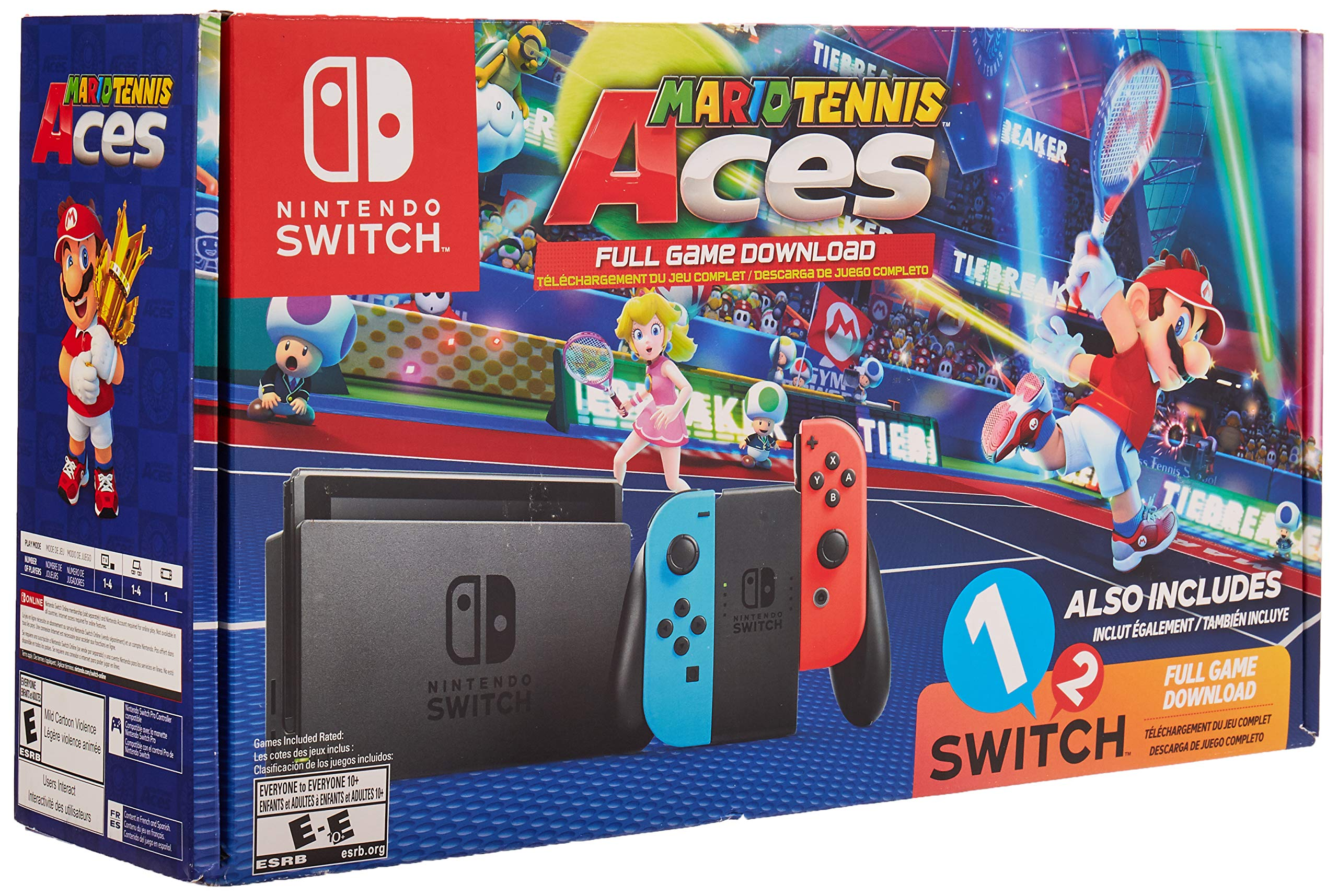 Amazon com: Nintendo Switch System Console , Neon Blue & Neon Red