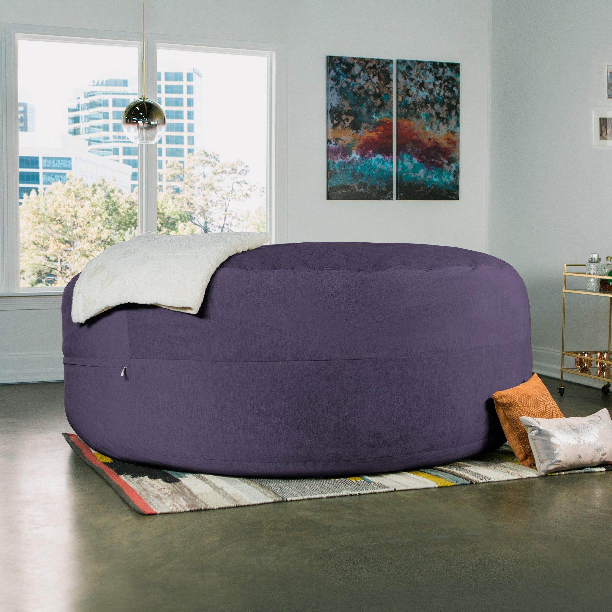 Jaxx Cocoon 8 Foot Huge Sleeper Bean Bag Bed - Chenille, Plum by Jaxx (Image #8)