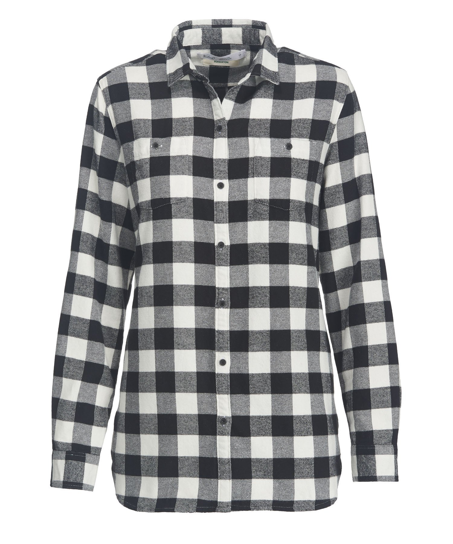 Woolrich Women's Pemberton Boyfriend Flannel Shirt, Ivory Check, M