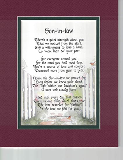 Amazon A Gift For Son In Law Poem 90 Unique 30th 40th 50th Birthday Present Home Kitchen