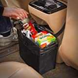 KMMOTORS Foldable Car Garbage Can Patented Car Waste Basket Comfortable Multifuntional Artificial Leather and Oxford…