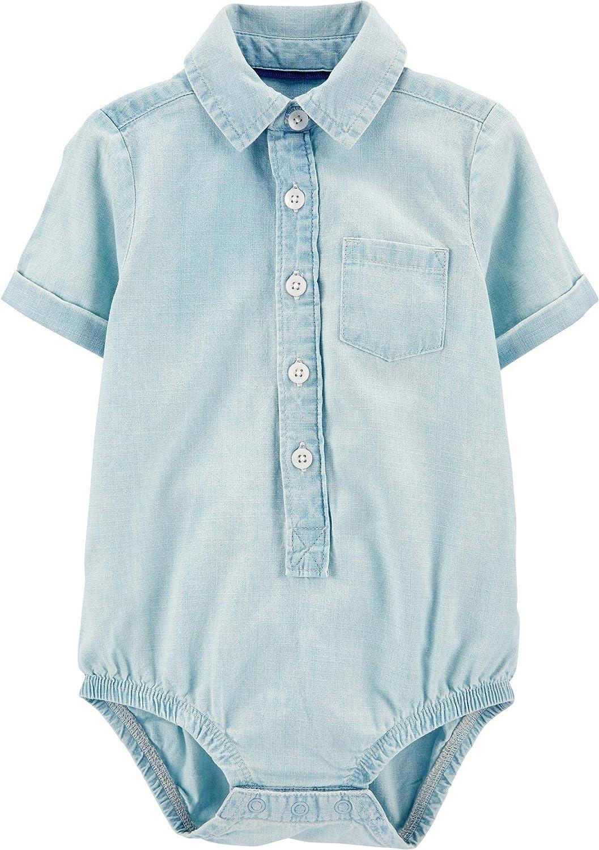 OshKosh BGosh Baby Boys Long-Sleeve Woven Bodysuit Button Down Shirt