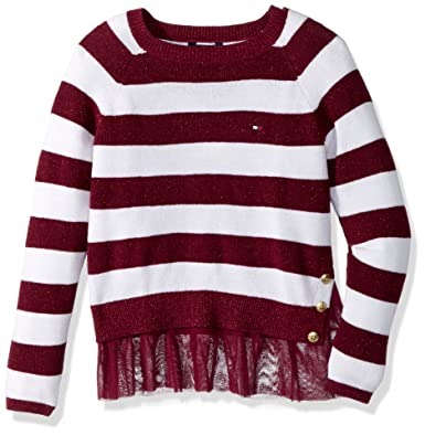 cb59f1970 Amazon.com  Tommy Hilfiger Girls  Pullover Fashion Sweater  Clothing