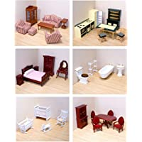 Melissa & Doug Victorian Dollhouse + Multilevel Wooden Dollhouse