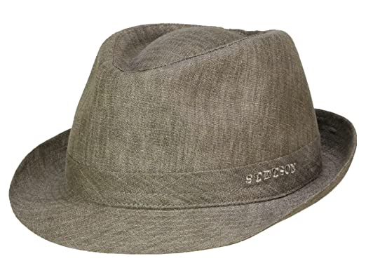 good looking shop best sellers buy online Stetson Unisex Trilby Hat Geneva Linen - grey 63: Amazon.co ...