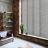 """GoDear Design Deluxe Adjustable Sliding Panel Track Blind 45.8""""- 86"""" W x 96"""" H, Extendable 4-Rail Track, Trimmable…"""