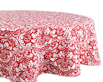 DII 100% Cotton, Machine Washable, Everyday Damask Kitchen Tablecloth For  Dinner Parties,