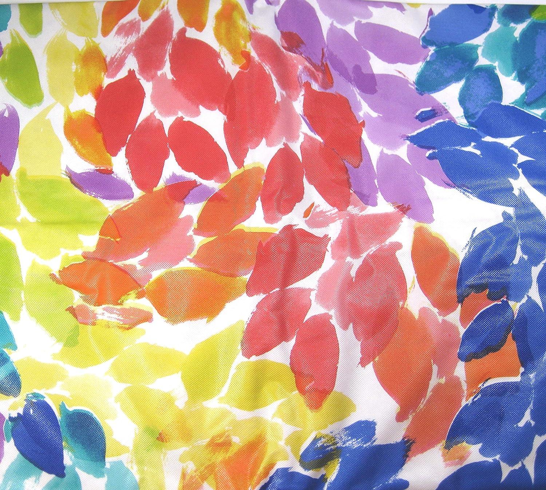 Watercolor Floral Splash Vinyl Tablecloths Umbrella Hole  w//Zipper Asst.Sizes