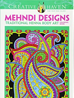 Dover Creative Haven Mehndi Designs Coloring Book Adult