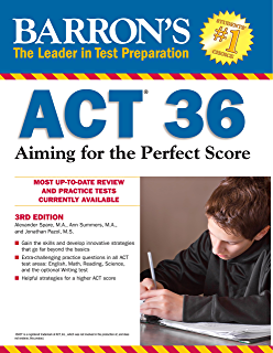 Amazon the official act prep guide 2018 official practice barrons act 36 aiming for the perfect score 3rd edition fandeluxe Gallery
