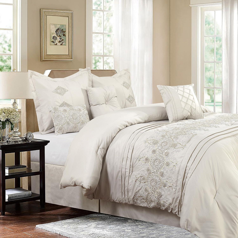 Safdie & Co. 60745.7Q.03 Registry Collection Registry 7Piece Comforter Set, Full/Queen