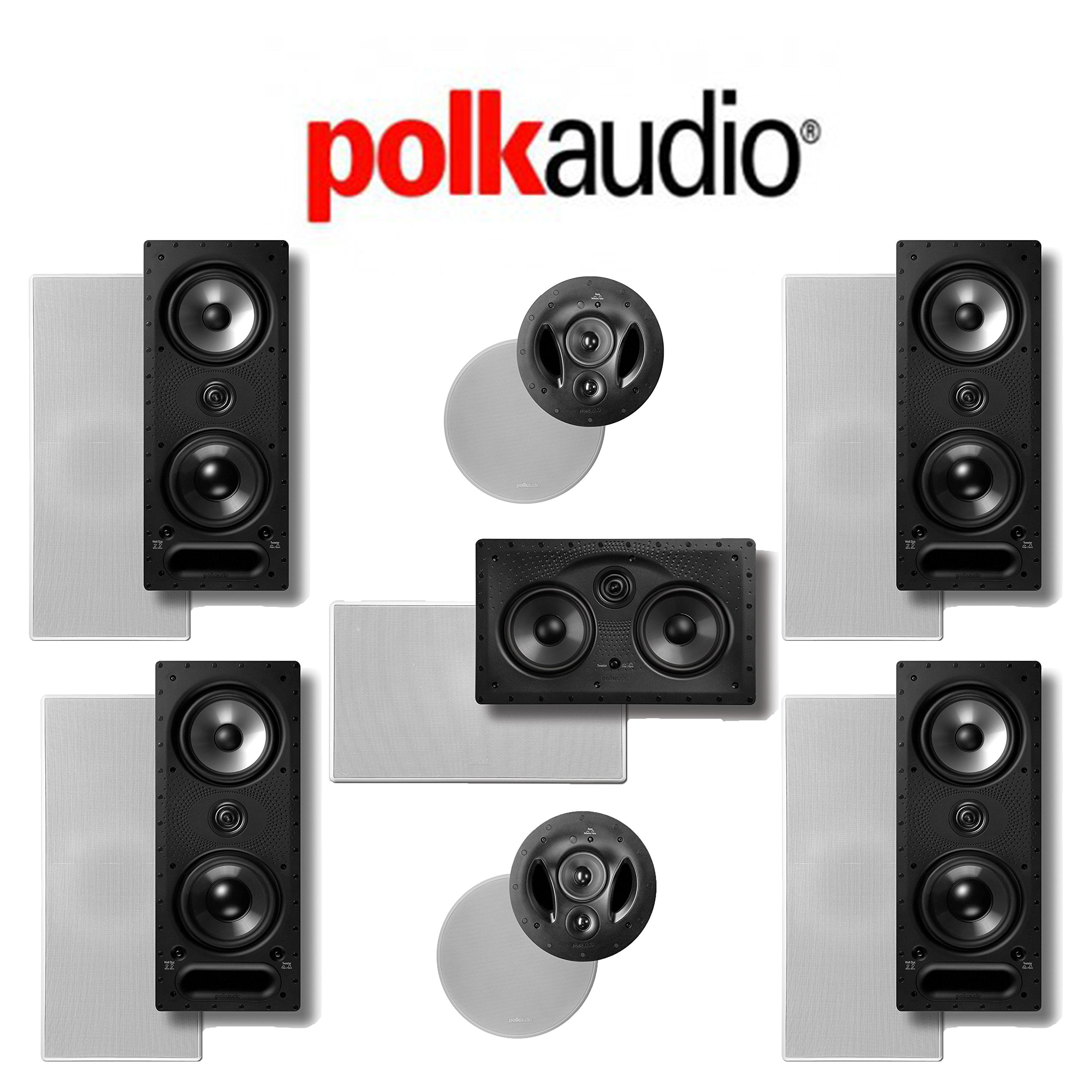 Polk Audio 265LS 7.0 Vanishing Series In-Wall / In-Ceiling Home Theater System (265-LS + 255C-LS + 90-RT)