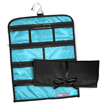 Amazon.com: Tidybagz Jewelry Roll Bag Travel & Home Organizer Safe ...