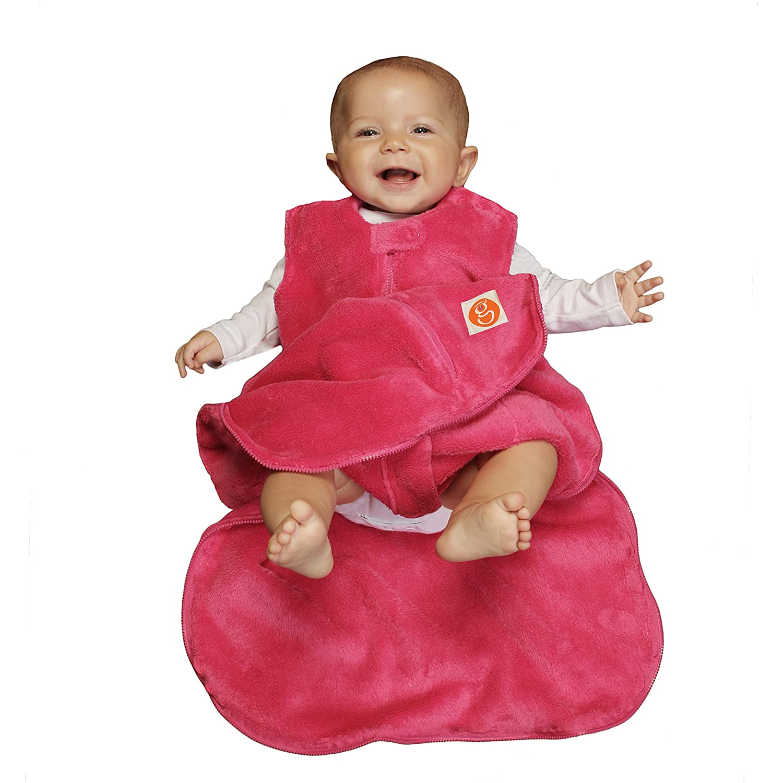 Gunapod Girl Fleece Wearable Blanket Baby Sleeping Bag, 18-24 Months, Pink Gunamuna 1111pl