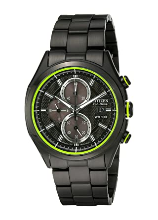 Drive from Citizen Eco-Drive Men s Black Ion Plated Chronograph Watch with  Date b8992b1c8