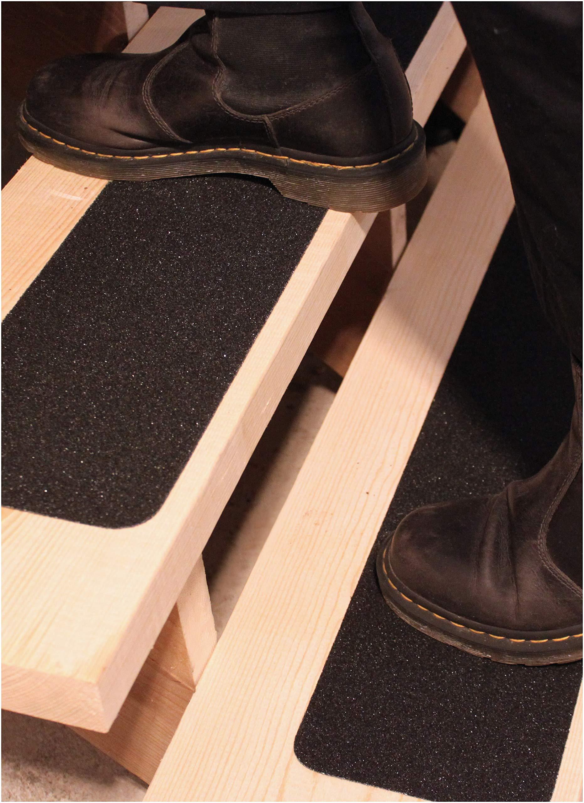 6''x40'' Stair Treads Non-Slip Outdoor Tape - (10-Pack) Black Anti-Slip Strips by Finehous