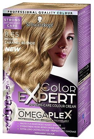 ebb28596fb Schwarzkopf Colour Expert Omegaplex Hair Dye, Number 8.65, Medium Caramel  Blonde
