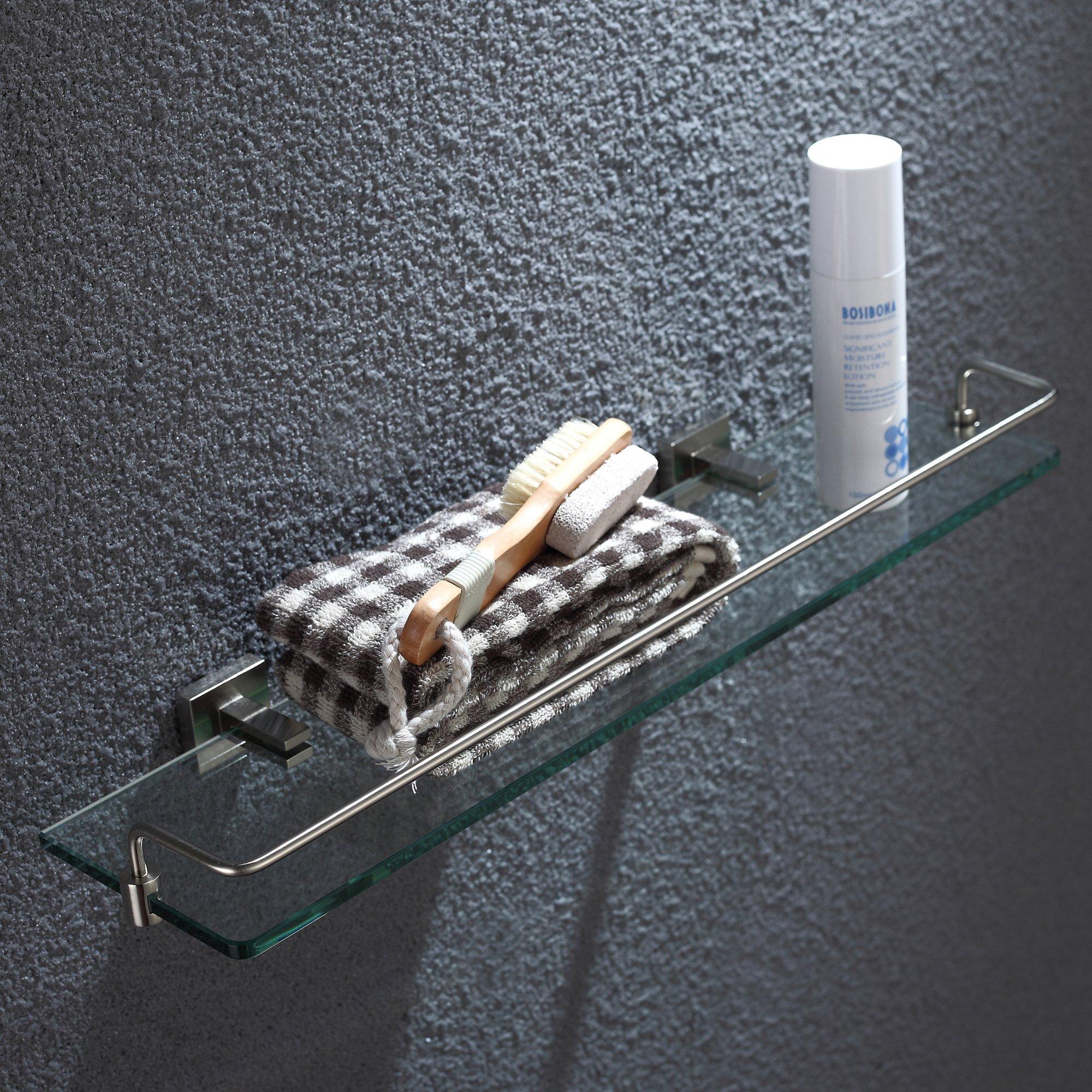 Kraus KEA-14445BN Aura Bathroom Accessories - Shelf with Railing Brushed Nickel by Kraus (Image #3)