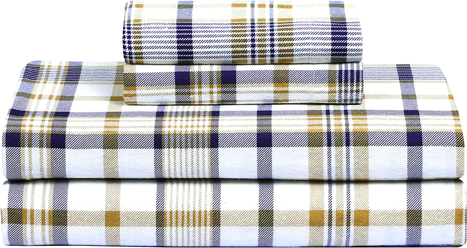 KING Flannel Sheets 5 oz Deep Pocket Ultra Soft Sheet Set 100/% Cotton Many Color
