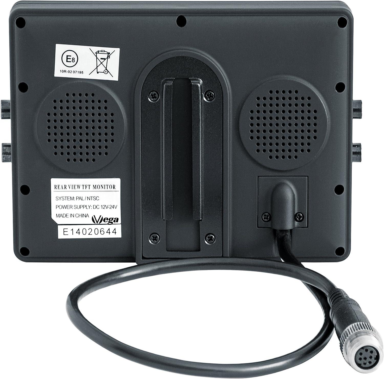 Einbaurahmen nur 21mm tief f/ür KFZ /& PKW Kopfst/ützenmonitor VSG 7 Einbaurahmen Monitor f/ür Kopfst/ützen inkl