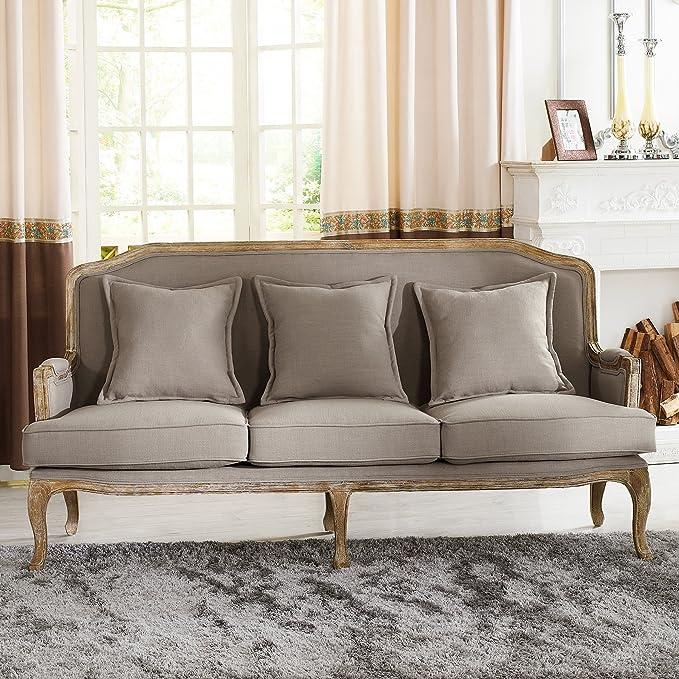 Amazon Baxton Studio Constanza Classic Antiqued French Sofa Kitchen Dining