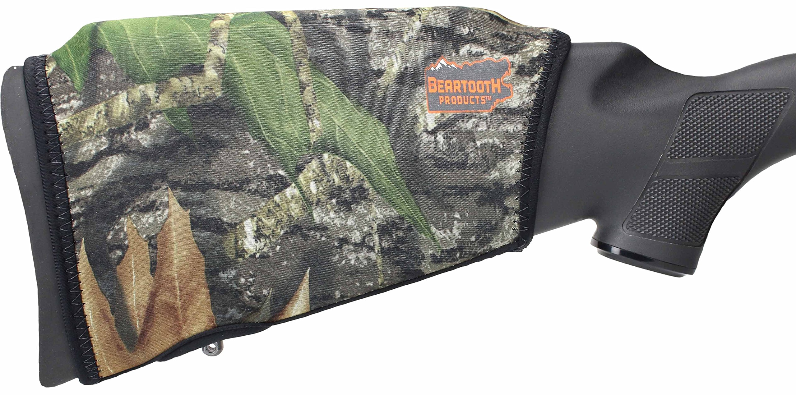 Beartooth Comb Raising Kit 2.0 - Premium Neoprene Gun Stock Cover + (5) Hi-density Foam Inserts - NO LOOPS MODEL (Mossy Oak Break-up) by Beartooth