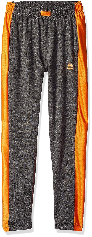 Charcoal Heather orange Dazzle RBX Boys' Big Fleece Pant,