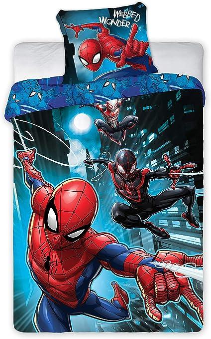 Copripiumino Spiderman.Set Letto Spiderman Webbed Wonder Uomo Ragno Copripiumino