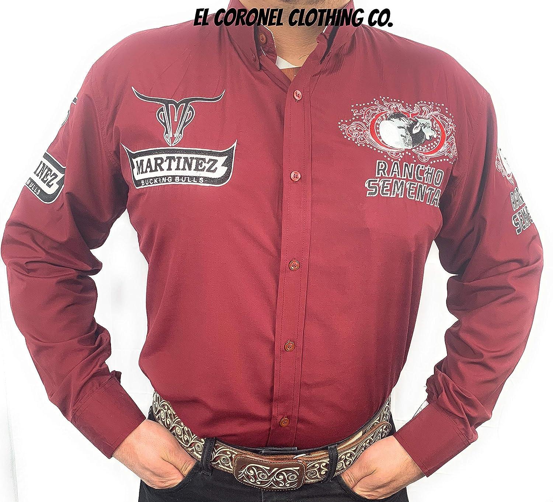Rancho Semental Camisa Estilo Martinez Ranch En Color Vino De Marca - Rojo - Medium: Amazon.es: Ropa y accesorios