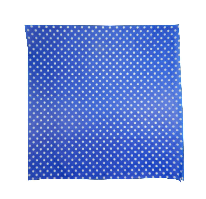Set of 50 Liners Inc. Regency Wraps RW376BL-D-50 Treat Sheets Cobalt Blue with White Dots