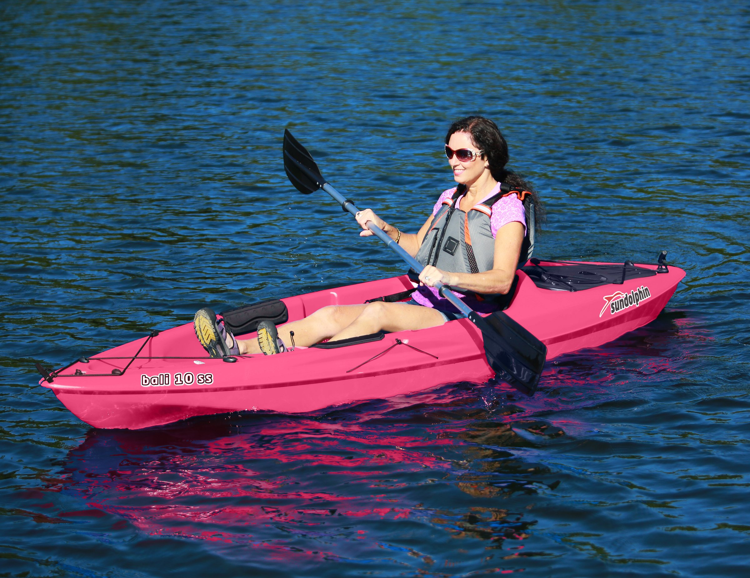 SUNDOLPHIN Sun Dolphin Bali SS Sit-on top Kayak (Pink, 10-Feet) by SUNDOLPHIN