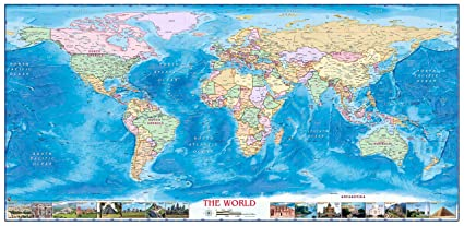Amazon.com: Compart Maps - World Political Wall Map - Fully ... on