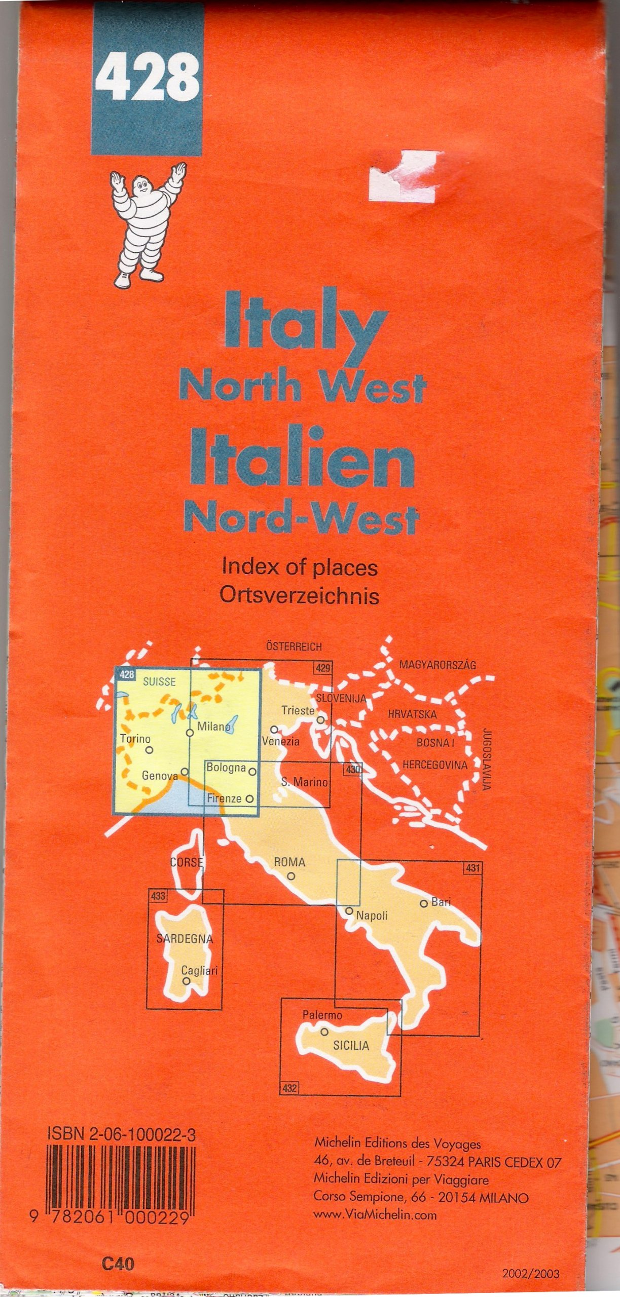 Map Of North West Italy.Michelin Italy North West Italien Michelin Maps Michelin Travel