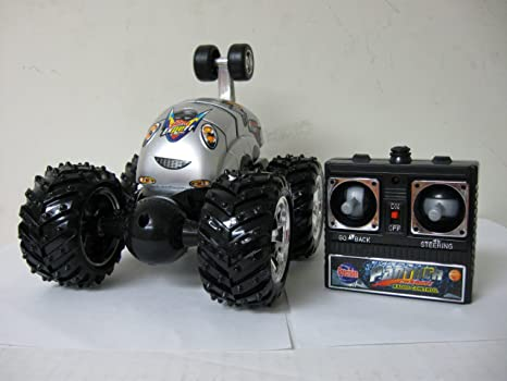 Turbo Twister Rc (Remote Control) Stunt Car with Black Wheels