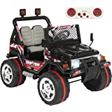 Best Choice Products 12V Ride On Car w/ Remote Control, Leather Seat, UV Lights, 2 Speeds Black