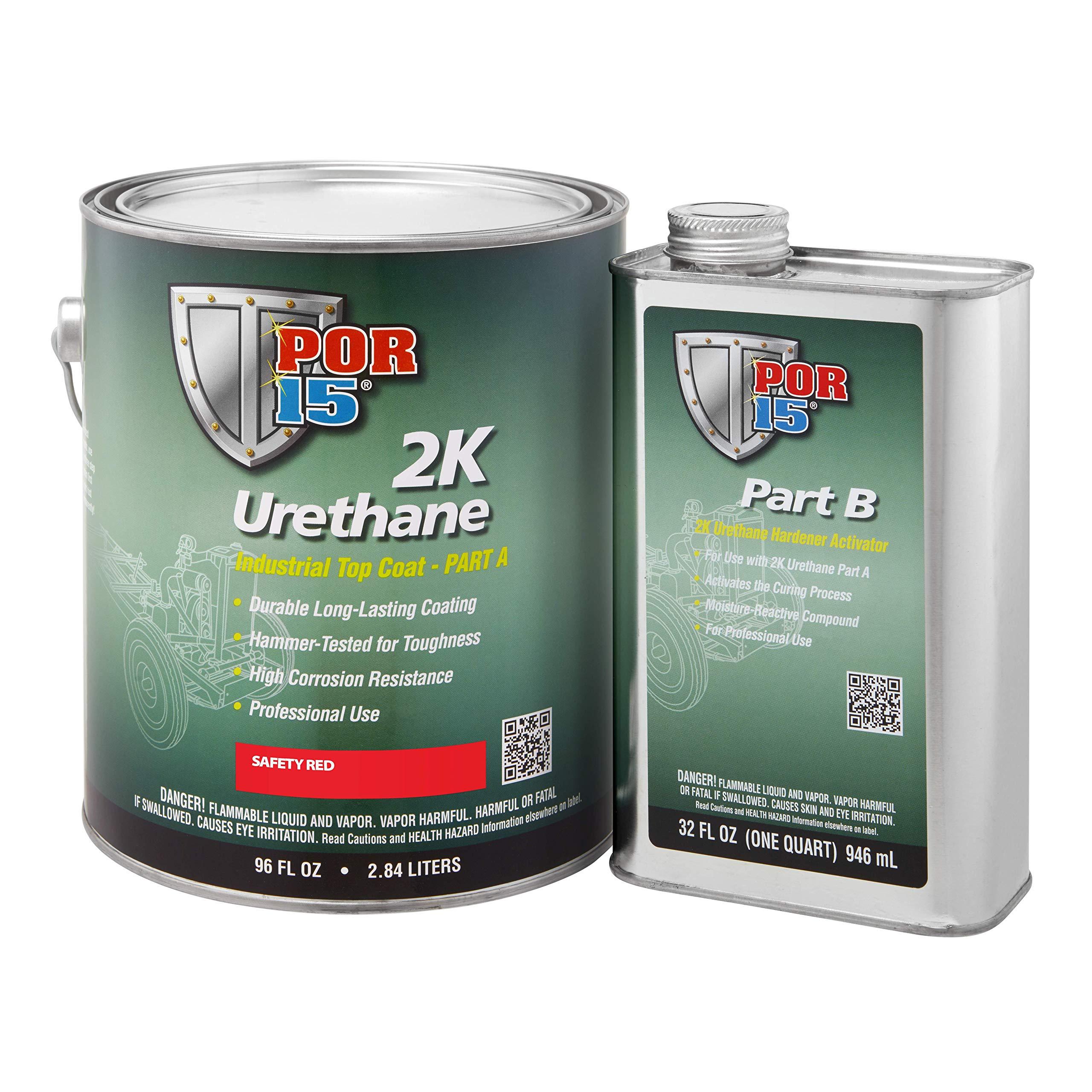 POR-15 43271 Safety Red 2K Urethane - 1 gal