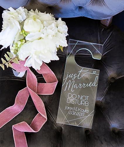 Amazon Personalized Wedding Door Hanger Honeymoon Or Wedding